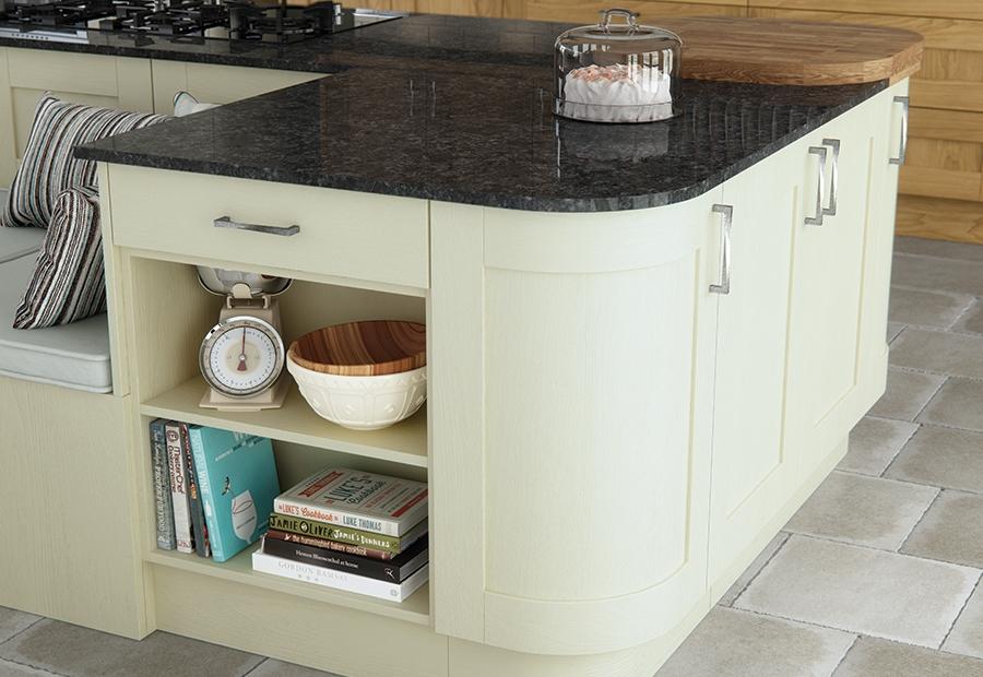 Zola Gloss Dust Grey Contemporary Kitchen Wall Units