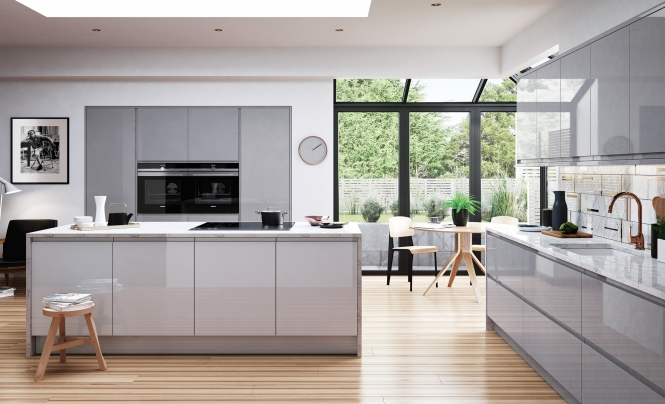 Strada Gloss Range in Light Grey & Dust Grey