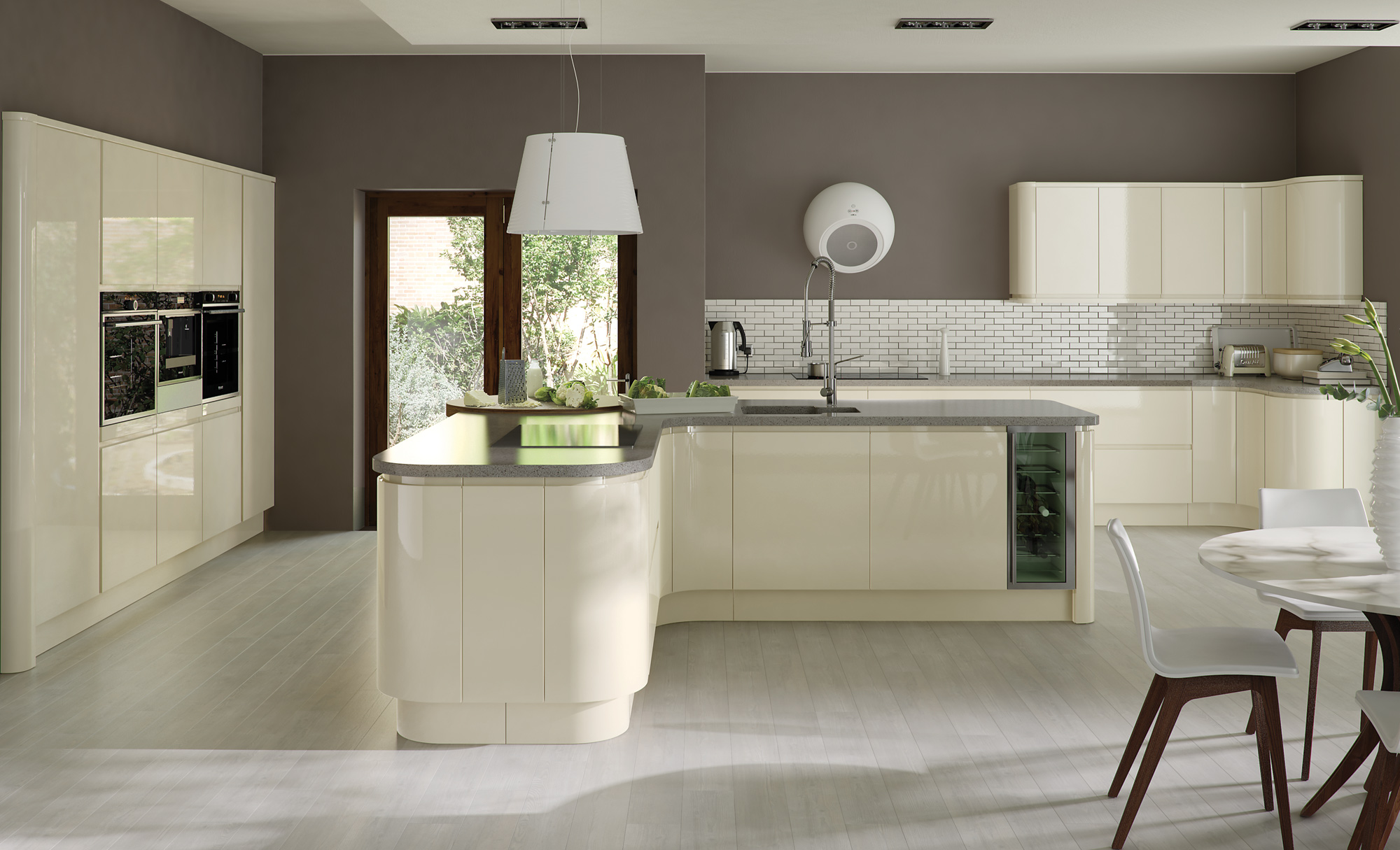 Contemporary Zola Gloss Range in Dust Grey